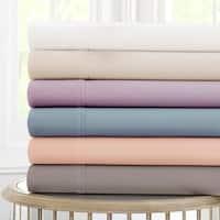 Amraupur Overseas 600 Thread Count 100-percent Cotton 4-piece Sheet Set