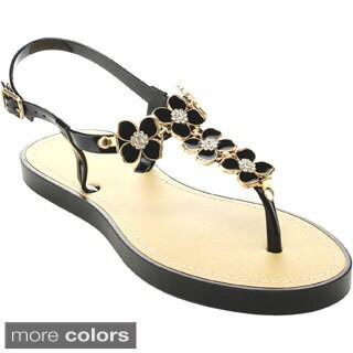Bamboo 'Glenn-12' Women's Adjustable Ankle Strap Sandals