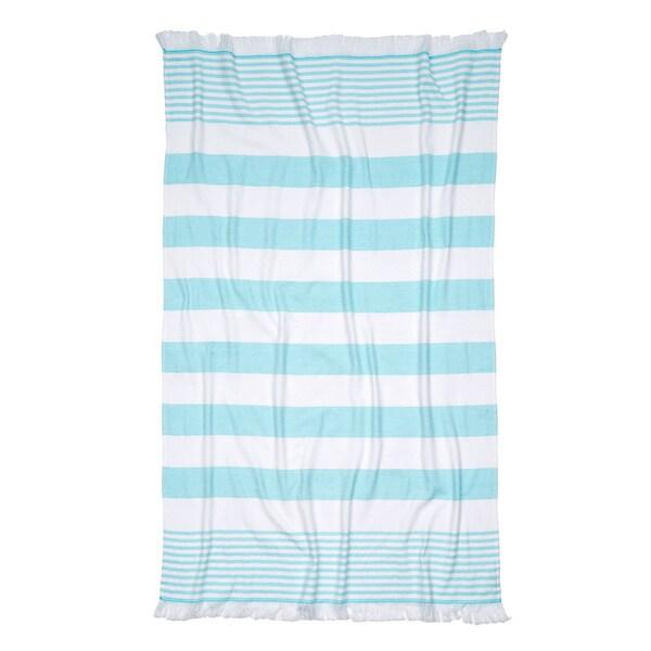 Turkish Cotton Plush Striped Beach Towel