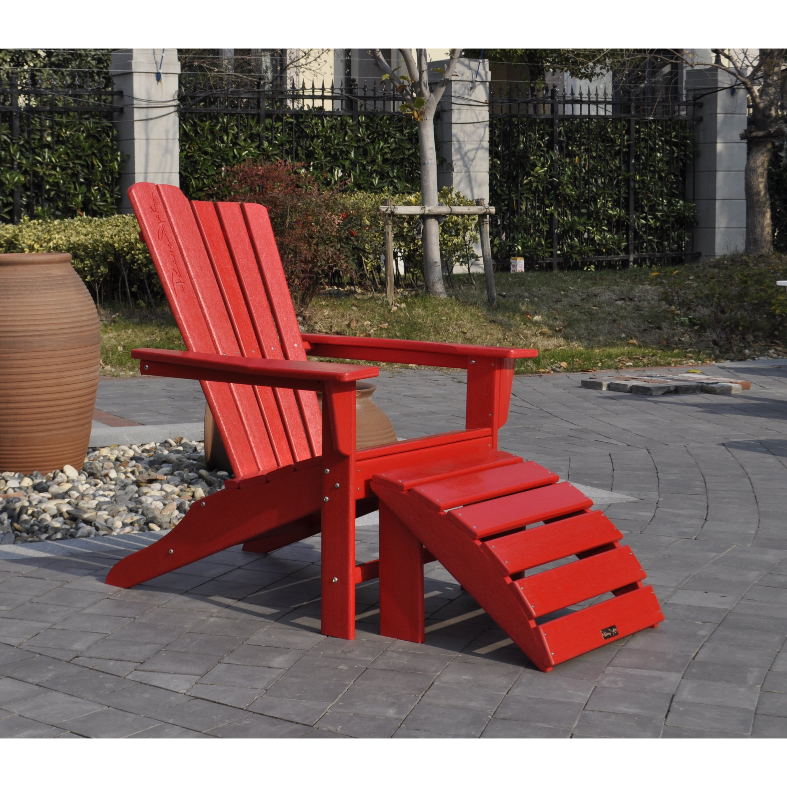 Panama Jack 2-piece Adirondack Chair/ Ottoman Set (Blue),...
