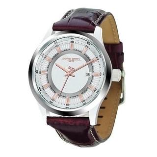 Jorg Gray Men's JG6800-12 Brown Leather Stainless Steel Case Watch
