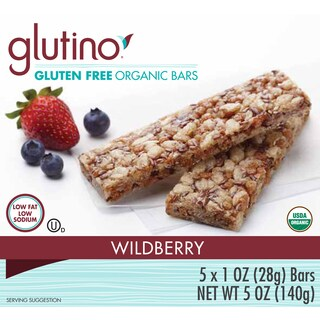 Glutino Gluten-free Wild Berry Organic Bars (2 Pack)