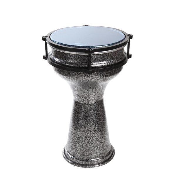 Handmade X8 Drums Aluminum Silvertone Darbuka Drum (Taiwan)
