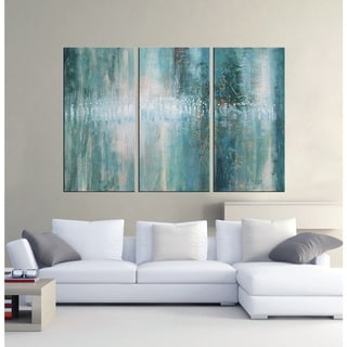 'Abstract 625' Hand-painted Oil Gallery-wrapped Canvas Art Set