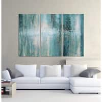 The Lighting Store 'Abstract 625' 3-piece Hand-painted Oil Gallery-wrapped Canvas Art Set