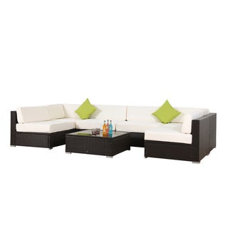 BroyerK 7-piece Outdoor Rattan Patio Furniture Set