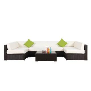 BroyerK 7-piece Outdoor Rattan Patio Furniture Set