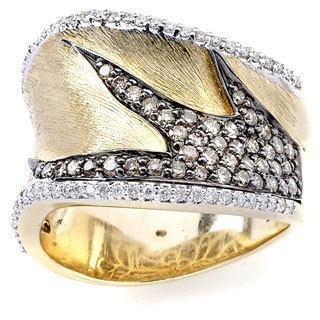 Diamonds for a Cure 14k Yellow Gold 3/4ct TDW Brown and White Diamond Ring