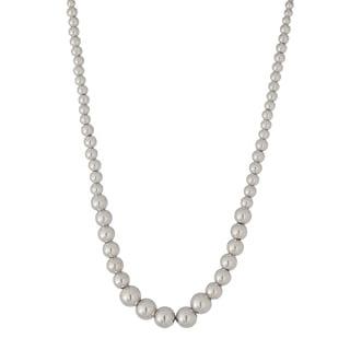 italian Karizia Sterling Silver Beaded Necklace