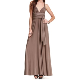 Women's Long Maxi Dress Convertible Wrap Cocktail Gown Bridesmaid Multi Way Dresses One Size Fits 0-12 (3 options available)