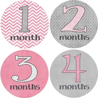 Rocket Bug Girly Grey Monthly Baby Bodysuit Stickers|https://ak1.ostkcdn.com/images/products/9918050/P17075397.jpg?impolicy=medium