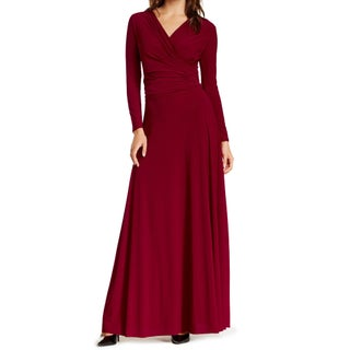 Women's Long Sleeve Convertible Front-to-Back Maxi Dress Cocktail Gown (More options available)