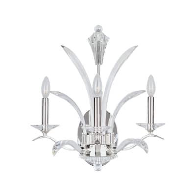 Maxim Paradise 3-light Silver Wall Sconce
