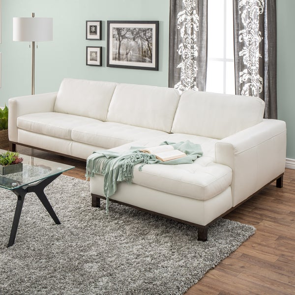 Natuzzi Lindo Cream Italian Leather Sofa