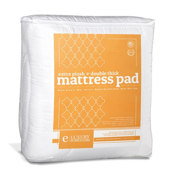 2piece extra plush double thick mattress pad free shipping today
