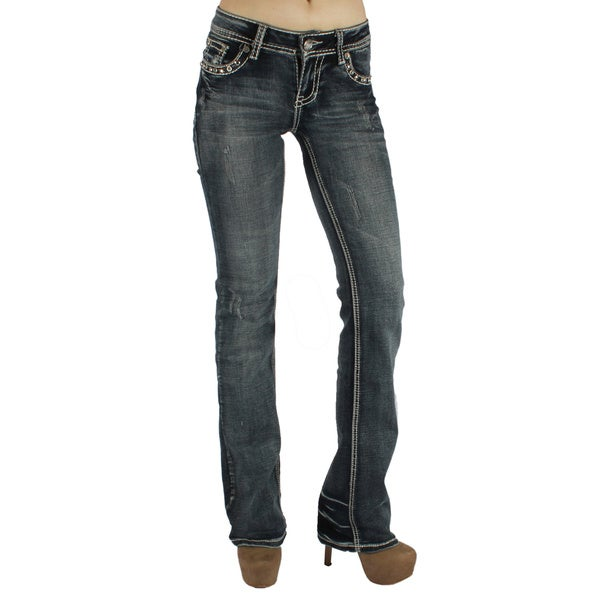 Sexy Couture 'S19-PB' Women's Mid-rise Boot Cut Jeans - Free ...