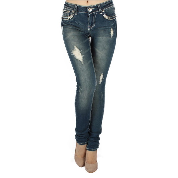 Sexy Couture 'S22-PS' Women's Mid-rise Skinny Jeans - Free ...