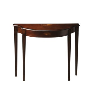 Pembroke-inspired Demilune Plantation Cherry Console Table