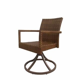 Panama Jack St. Barths Swivel Wicker Dining Chair (Set of 2)