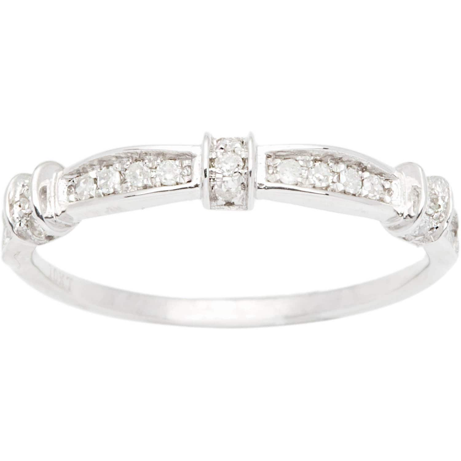 G-H,I2-I3 1//20 cttw, Diamond Wedding Band in Sterling Silver Size-10.25