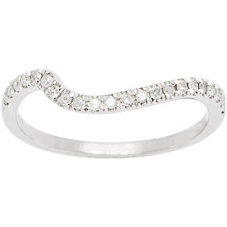 10k White Gold 1/5ct TDW Diamond Curved Band