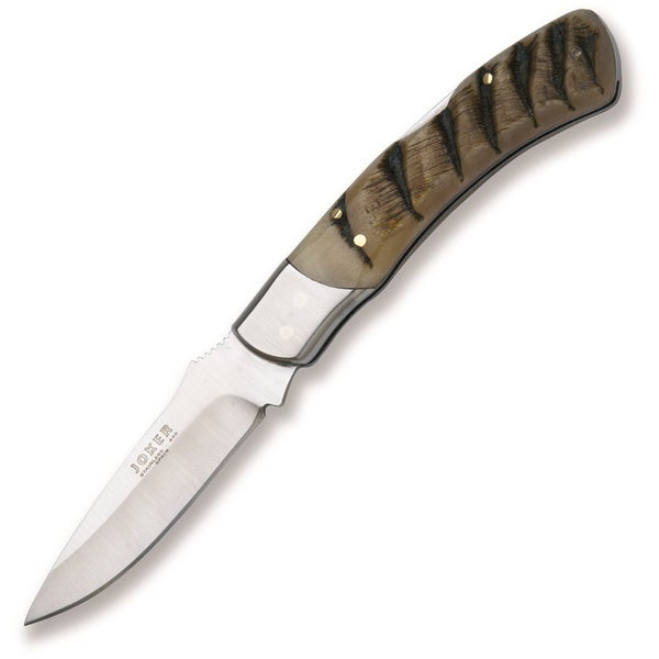 Joker Knives Folding Stainless Ram Horn Handled Knife 3.31-inch