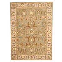 Herat Oriental Indo Hand-tufted Persian Isfahan Design Wool Rug (8' x 10')