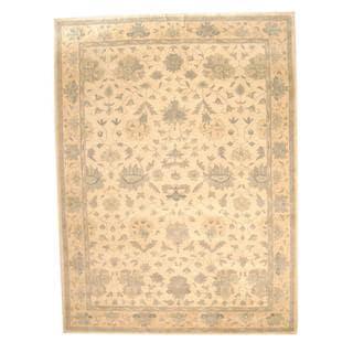 Herat Oriental Indo Hand-tufted Persian Isfahan Design Ivory/ Beige Wool Rug (9' x 12')