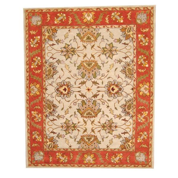 Hand Knotted Persian Isfahan Wool Area Rug: Shop Herat Oriental Indo Hand-tufted Persian Isfahan