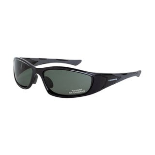 Garrison Crystal Black Frame with Blue Green Polarized Lens