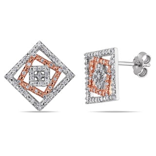 Miadora Sterling Silver 1/4ct TDW Diamond Fashion Earrings (G-H, I2-I3)