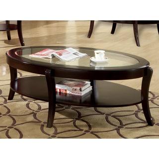 Furniture of America Orim Modern Espresso Solid Wood Coffee Table