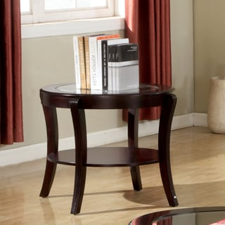 Furniture of America Carline Modern Espresso End Table
