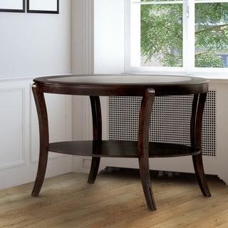 Furniture of America Carline Modern Espresso Sofa Table