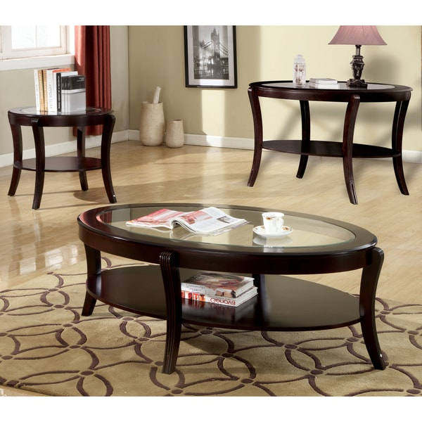 Furniture of America Orim Modern Espresso 3-piece Accent Table Set