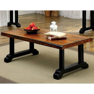Furniture of America Falcon Rustic Tobacco Oak Coffee Table