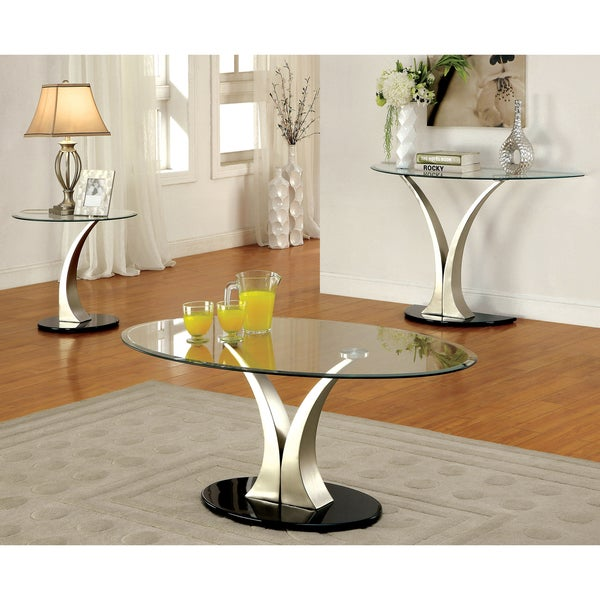 Furniture of America Wuct Modern Grey Metal 3-piece Accent Table Set