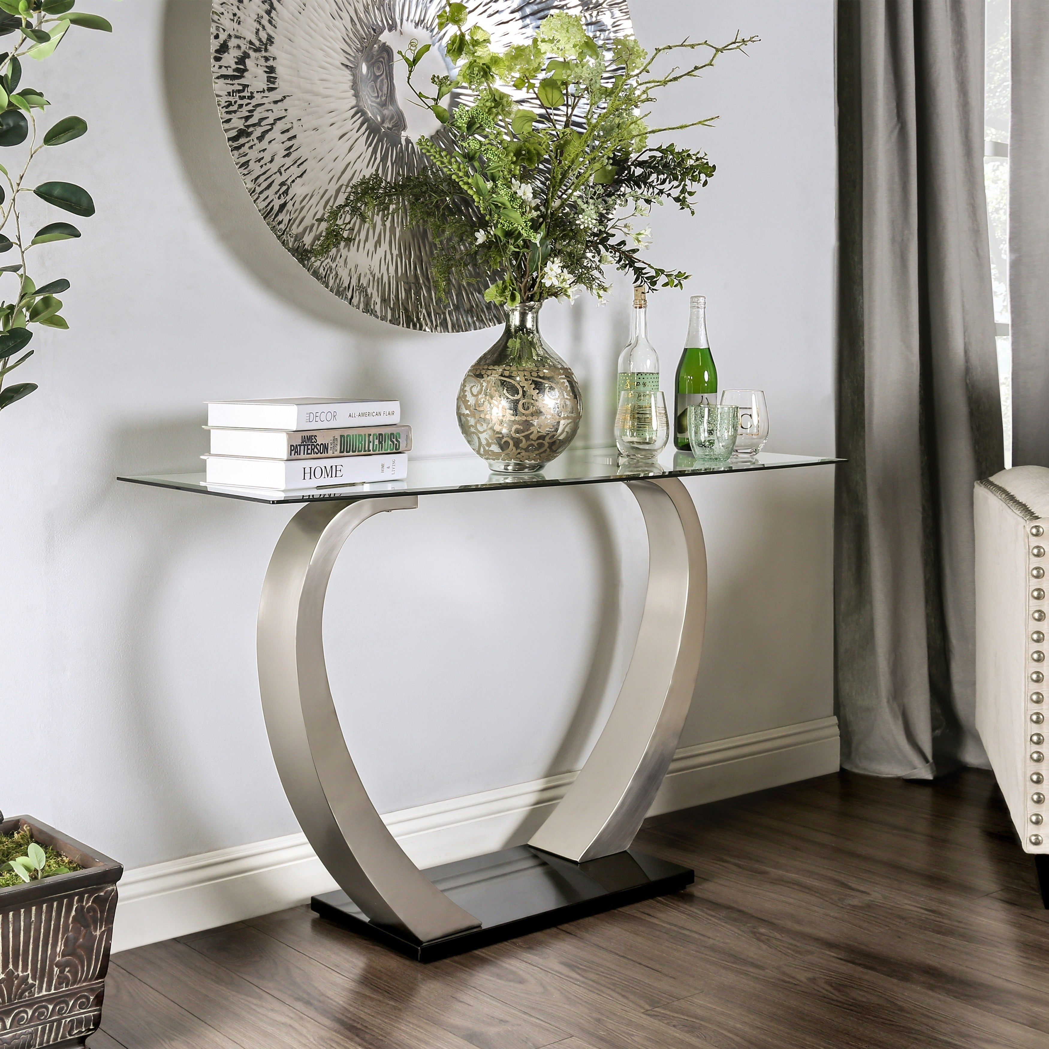 Oliver Amp James Cy Satin Sofa Table Ebay