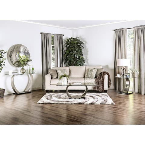 Furniture of America Odra Modern Silver Metal 3-piece Accent Table Set