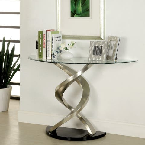 Helena Modern Satin Plated Sofa Table by FOA