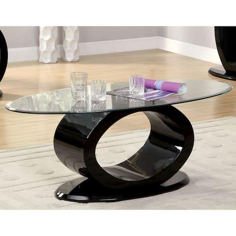 Furniture of America Opelle Modern O-shaped Coffee Table