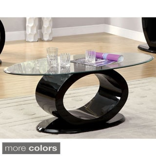 Furniture of America Opelle Modern O-Shaped Coffee Table