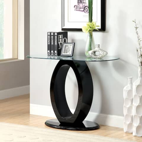 Furniture of America Fyd Modern Wood O-shaped Base Sofa Table