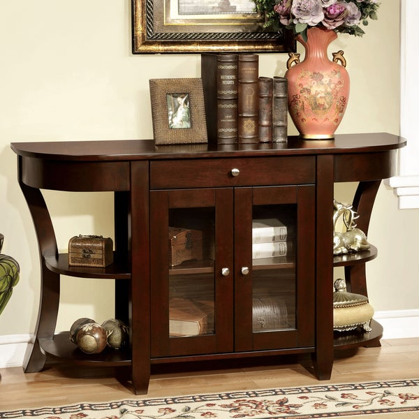 Furniture of america roland dark cherry entryway table for Furniture of america furniture