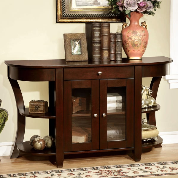 Roland Transitional Dark Cherry 1 Drawer Entryway Table By Foa Free Shipping Today 9918627