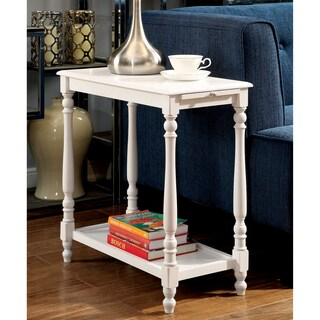 Furniture of America Bessie White Side Table