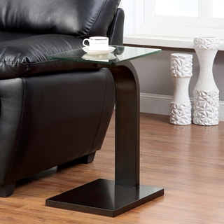Furniture of America Lyrine Modern Dark Walnut Side Table