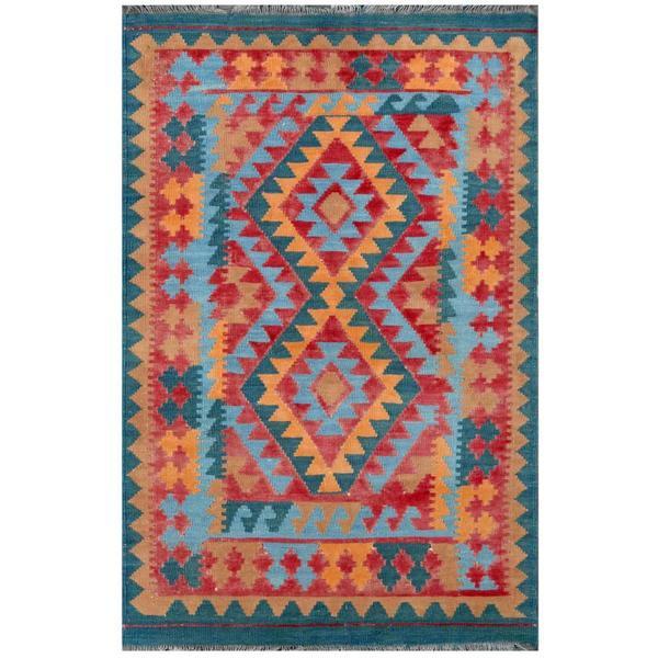 Shop Herat Oriental Afghan Hand-woven Tribal Kilim Red