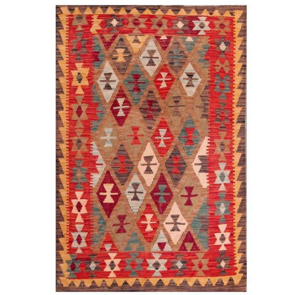 Herat Oriental Afghan Hand-woven Tribal Wool Kilim (3'5 x 4'11)