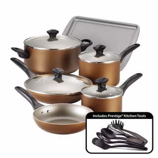 Shop Farberware Dishwasher Safe Nonstick 15-piece Red ...